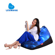 LEVMOON Beanbag Sofa Chair  Blue Mage Seat Zac Comfort Bean Bag Bed Cover Without Filler Cotton Indoor Beanbag Lounge Chair