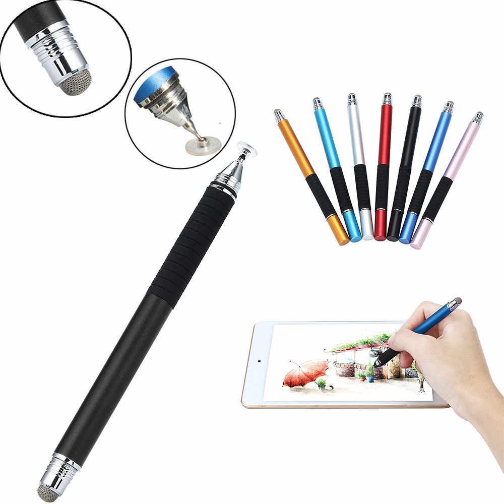 2in1 precisión fina pantalla capacitiva Stylus Pen Universal para tableta de teléfono inteligente para iPad para iPhone para tableta de teléfono iPad 2018