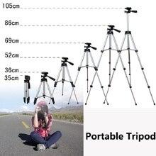 HOT! Portable Camera Tripod 4 Sections Pan head 35-105cm Universal Tripod Stand Photographic DV Phone Bear 3kg free phone holder
