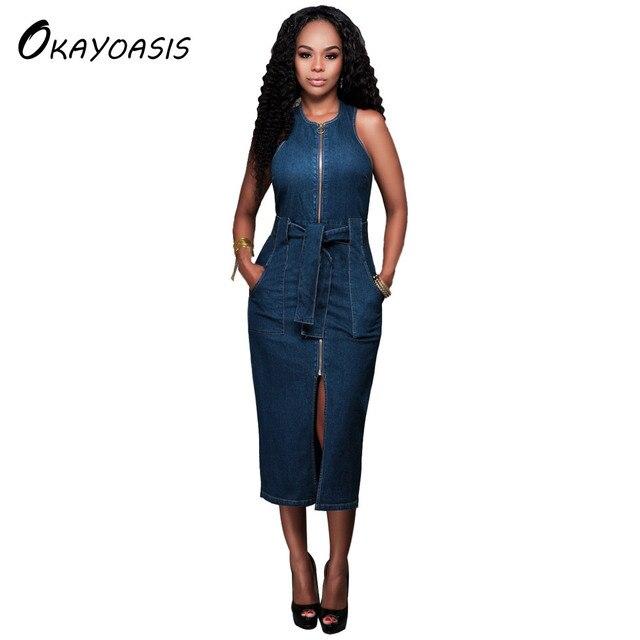Jeanskleid lang damen