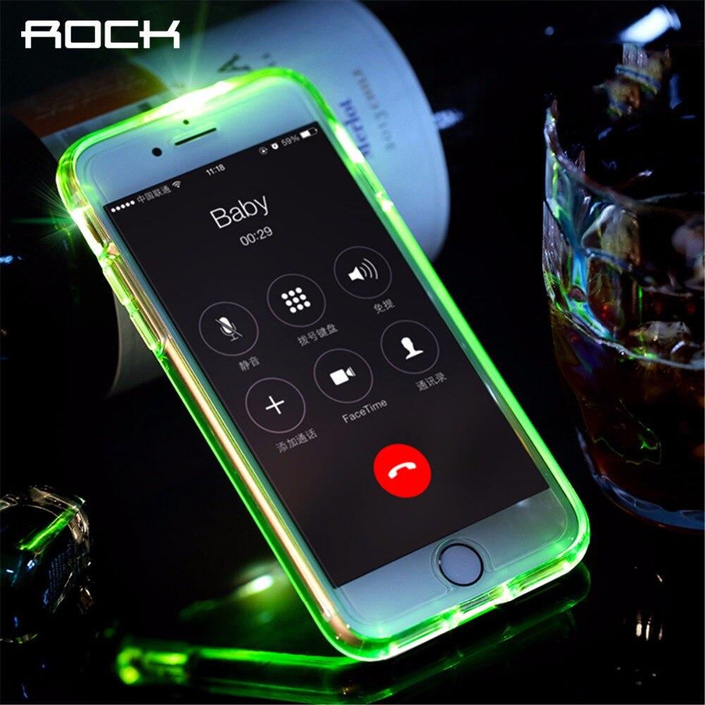 ROCA Flash Led Caja Del Teléfono para el iphone 7 6 6 s plus, aviso de Llamada l