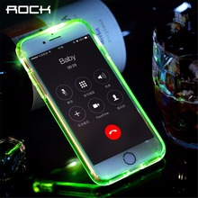 ROCK Led Flash Phone Case for iPhone 7 6 6s plus Light Flash Calling notice Tube