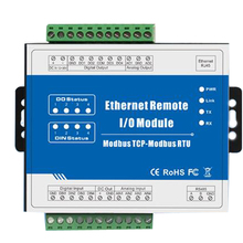 Ethernet Data Acquisition Module Modbus TCP Remote IO Supports 5 TCP Links Pulse counter 12-36V modbus tcp rj45 ethernet remote io module for fieldbus automation built in watchdog supports register mapping m120t
