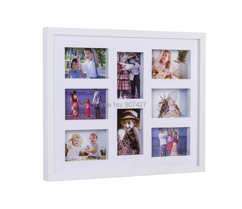 16x20 inch photo frame and 8 multi frames white color or 40x50cm wall decor family multi frames in frame from home garden on aliexpresscom alibaba - Multi Photo Frames