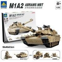Kazi Free Sshipping 1463pcs Military Theme Tank Legoings Building Blocks M1A2 ABRAMS MBT KY10000 1 Change 2 Toy Tank Models Toys