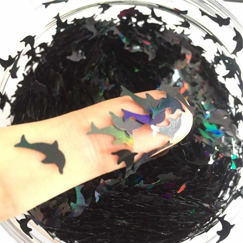 8g Блестки для домашних животных ультратонкие блестки 10 мм Дельфин блестка с лазерным блеском для дизайна ногтей украшения для тела художественная Живопись ногтей DIY Декор