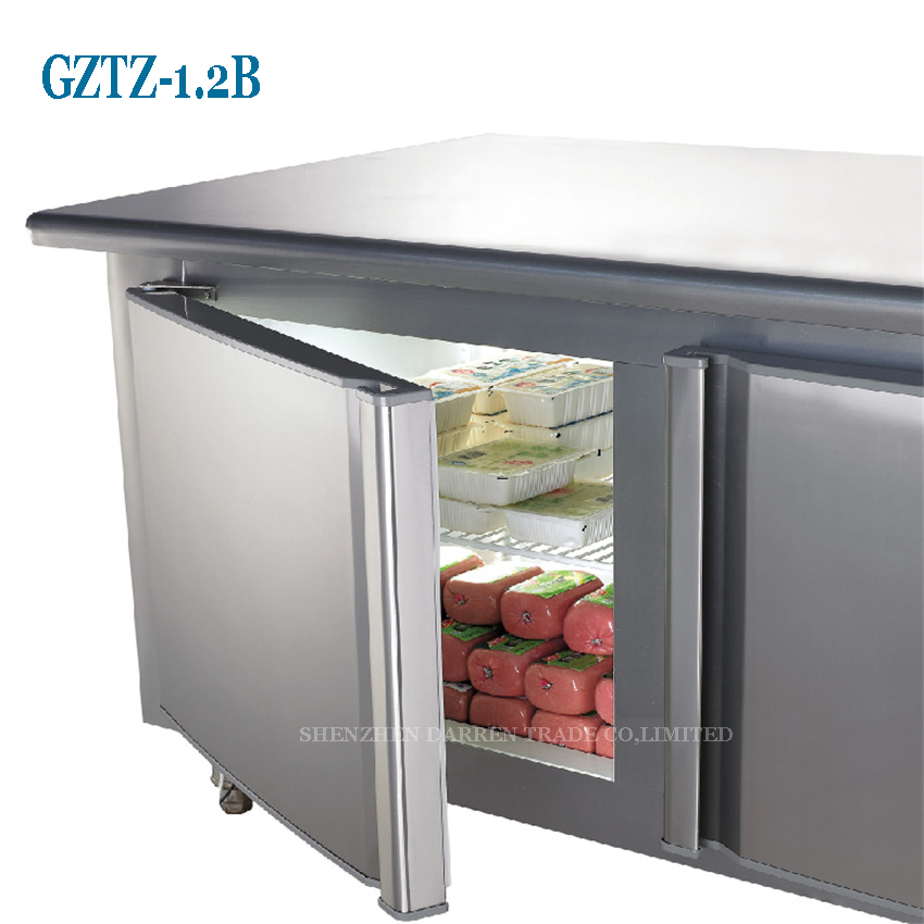 1PC Stainless Steel Kitchen Under Counter Worktop Commercial Cabinet  Refrigerator Freezer Cooler Storage Fridge Machine In Freezers From Home  Appliances On ...