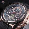 4 Cores Top De Luxo Mens Esporte Relógios de Borracha FORSINING Tourbillon Mecânico Automático Homens Relógio relogio masculino esportivo