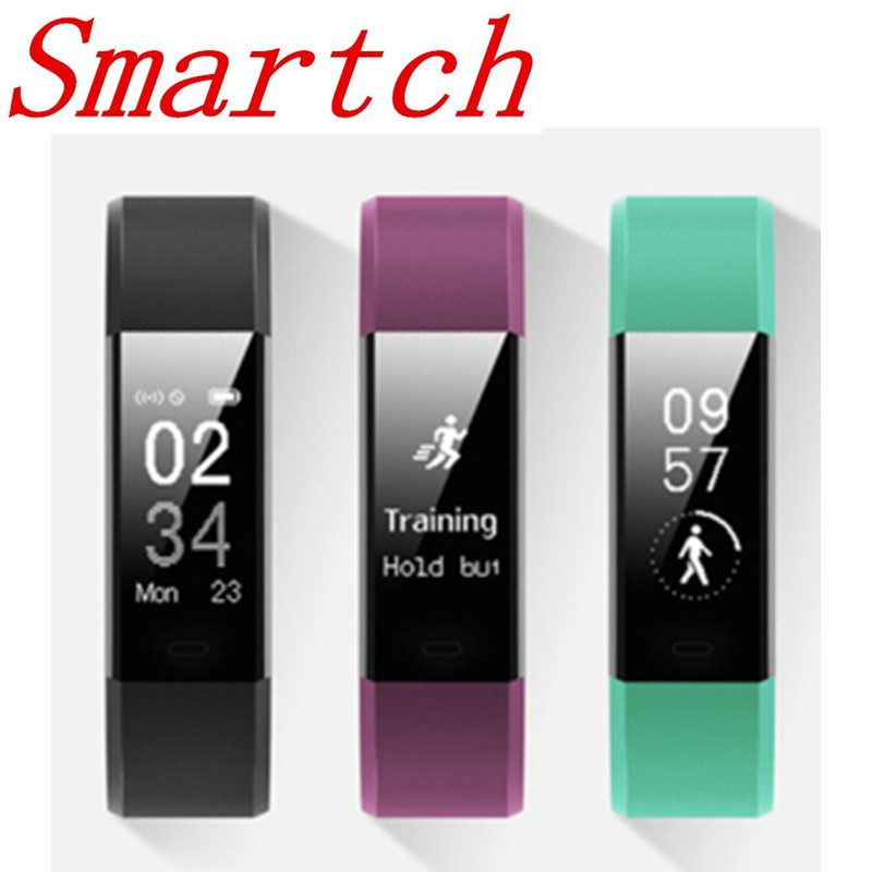 Smartch ID115 plus Smart Band Fitness bracelet Tracker Step Counter Heart rate monitoring Wristband pk ID107 fit bit