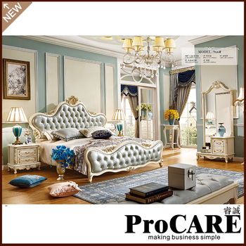 French Style Furniture   Modern Luxury Royal French  Style King Queen Size Bed Set