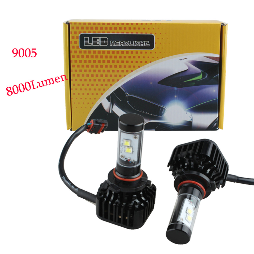 ФОТО 9005/9006/H7/H8 80W 8000LM LED Headlight Kit Hi/Low Beam Bulbs White 6000K High Power