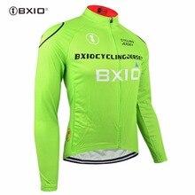 Bxio зимний термальный флис майки для велоспорта Велосипедное Джерси теплое с длинными рукавами только осень велосипедный костюм, трико Ciclismo 011-J