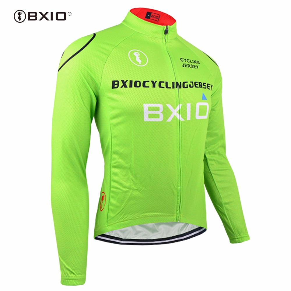 Bxio Winter Thermal Fleece Cycling Jerseys Pro Bike Jersey Warm Long Sleeves Only Autumn Bicycle Clothing Maillot Ciclismo 011-J