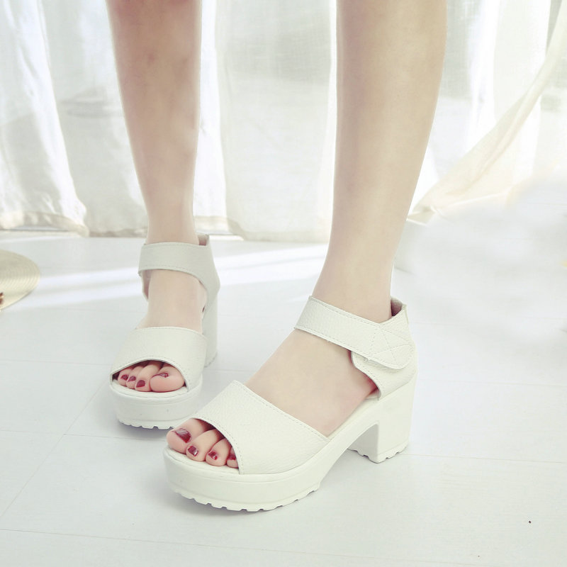 CPI Fashion Party Shoes Woman Sexy High Heels Summer Pumps Ankle Strap Sandals Women Shoes Free Shipping Big Size 35-41 EE-232 big size 32 44 ankle strap patch color super hoof high heels platform shoes woman spring summer pumps party dress shoes sexy