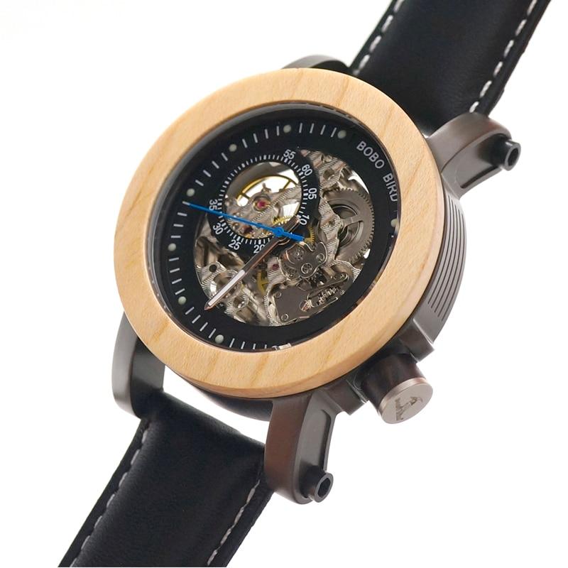 BOBO BIRD แบรนด์หรูนาฬิกาผู้ชายไม้เมเปิลนาฬิกาข้อมือ relogio masculino ของขวัญกล่อง C K14-ใน นาฬิกาข้อมือกลไก จาก นาฬิกาข้อมือ บน   2
