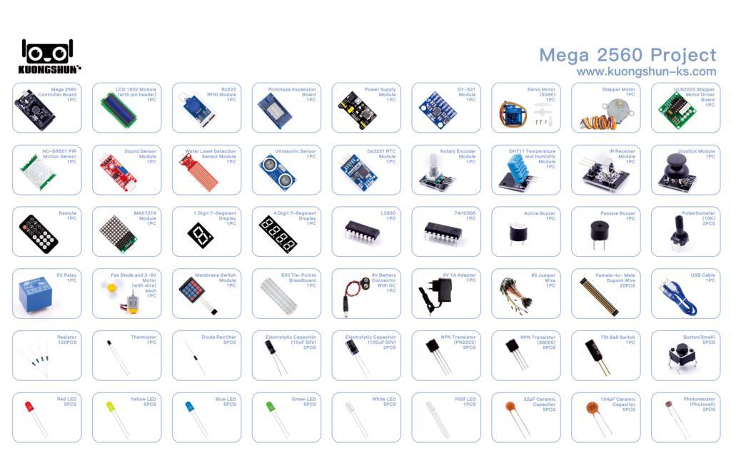 Projet Mega 2560 le Kit de démarrage ultime le plus complet avec tutoriel pour Arduino UNO Nano - 5