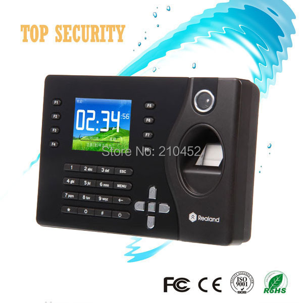Hot Sale! Realand 2.8 Color TFT Fingerprint Time Attendance Time Clock C081 punched card machine TFT USB Time Recorder human anatomical kidney