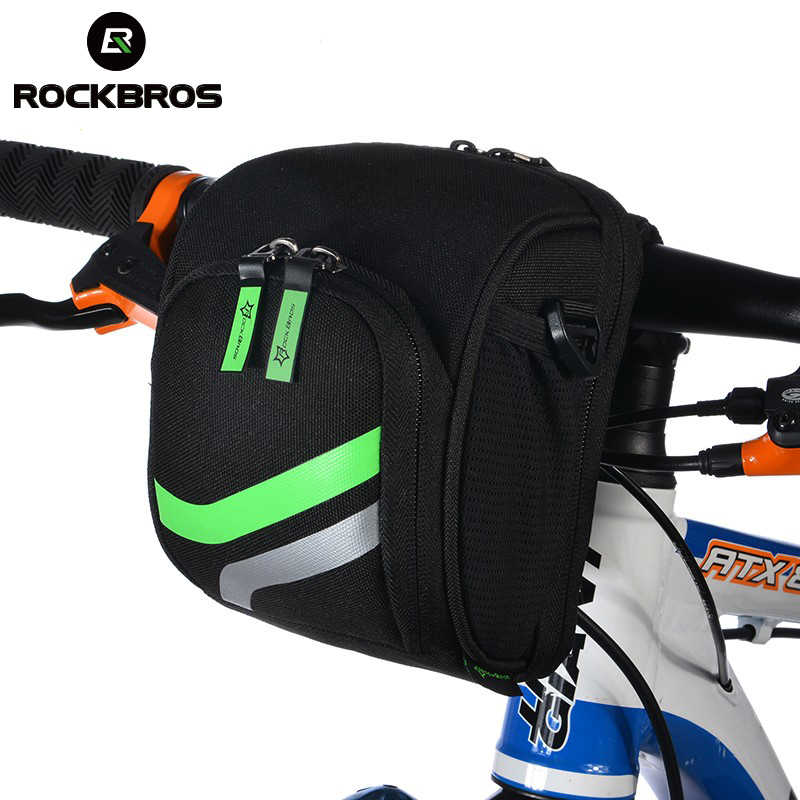 RockBros Bicycle Bike Handlebar Bag With Rain Cover Cycling Top Tube Bag MTB Folding Bike Bicycle Front Bag Bike Accessories