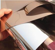 Plata Aislamiento Película de La Ventana Pegatinas Reflectantes Solares Espejo Unidireccional bronceado plata ancho 30/40/50/60/70/80/85 de longitud 150 cm