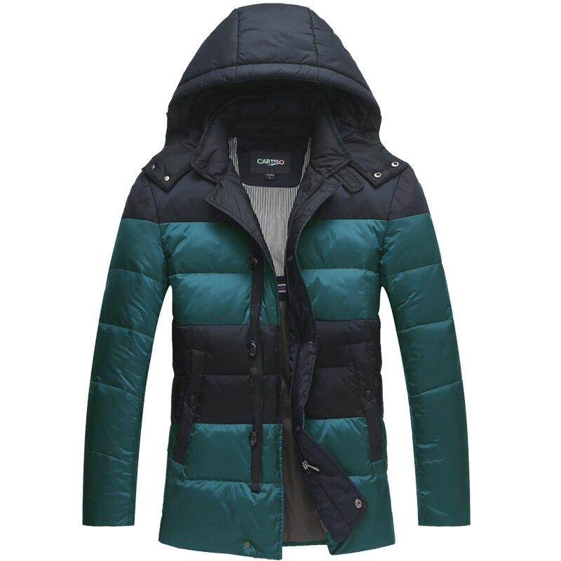 DZYS Men's 90% Duck   Down   Jacket Warm   Down     Coat   with Hat Detachable for Men Male 5637