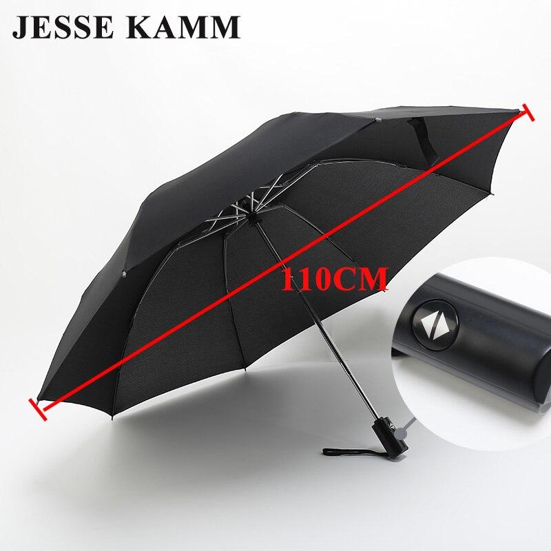 Jessekamm inversa nuevo diseño totalmente automático a prueba de viento auto abrir cerrar lluvia a prueba de viento fibra de vidrio compacto de la gota paraguas