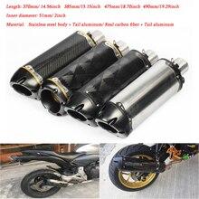 цены 38/51mm Motorcycle Exhaust Muffler Pipe with Removable DB Killer for CB400/R1/6/GSX1300/K7/K8/CBR1000/ZX-6R/Z1000