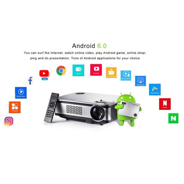 CRENOVA A76 Video Projector FullHD 4500 Lumens Android 6