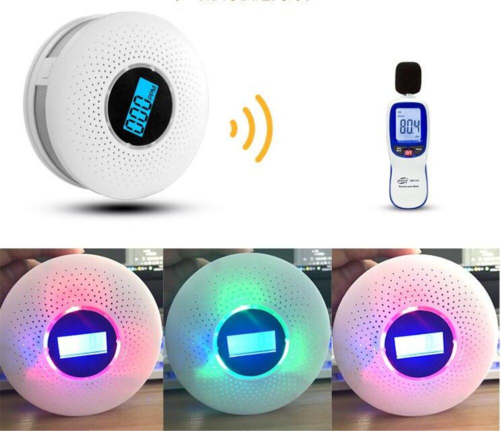 Carbon Monoxide Detectors Dual Purpose Smoke & Co Detector Fire Protection Carbon Monoxide Detector Sound And Shine Light Alarm Sensors A Complete Range Of Specifications
