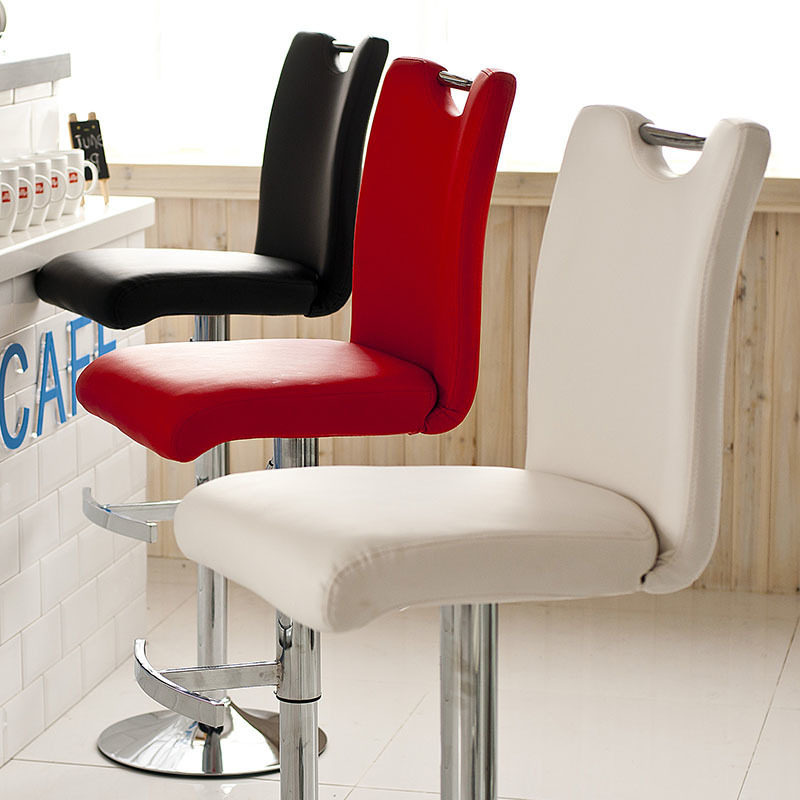 Fashionable Barber Chair White Red Black Green Stool