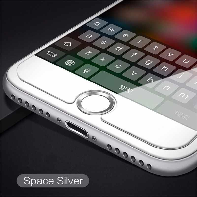 ปุ่ม Home ID ลายนิ้วมือสติกเกอร์สำหรับ Apple IPhone 5 5S SE 6 6 S 7 8 PLUS iPad โทรศัพท์มือถือสติกเกอร์ผิวทองสีแดงสีดำ
