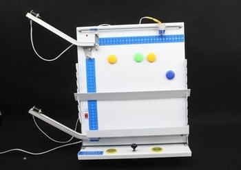 Two - track flat throwing motion experiment demonstration teaching apparatus free shipping