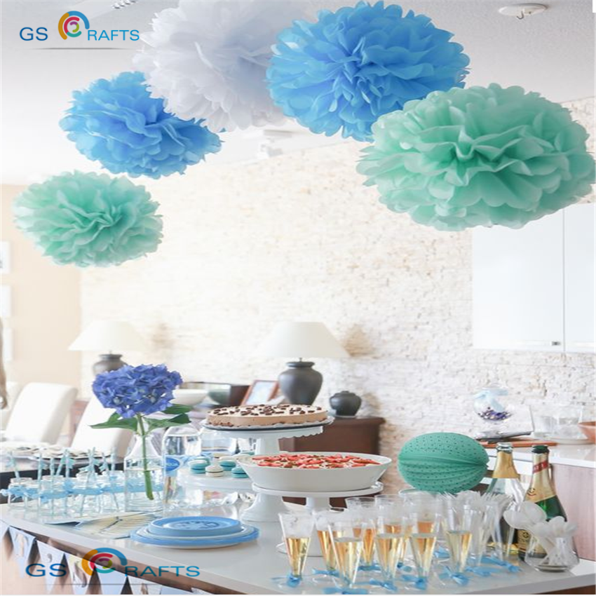 結婚式の装飾イベントアクセサリー混合サイズポンポンポンポンティッシュペーパーポンポンボールパーティー用品ベビーシャワーの誕生日