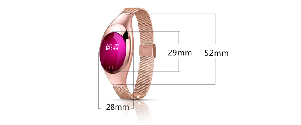 Smart Wristband Z18 Women Bluetooth Bracelet Blood Pressure Oxygen Heart Rate Monitor Pedometer Fitness Tracker For Android iOS 10