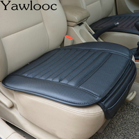 Car Styling Seat Cover Four Seasons Leather Bamboo Charcoal For Auto Car Front Back Seat Cover