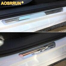AOSRRUN Бесплатная доставка нержавеющей Дверь SCUFF Накладка на порог шаг пластин автомобильные аксессуары для 2009 2010 2011 2012 Фольксваген Поло