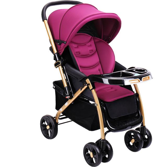 Venda quente Luz Carrinho de Bebê Dobrável Portátil Fácil Carrinho De Bebê Verão Respirável À Prova de Choque de Carro Do Bebê Carrinho de Bebê
