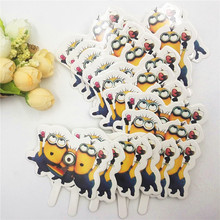 50pcs Minions Party Supplies Cake Toppers Cupcake Accessory Tutu Cake Table Birthday Minions Party Decorations For Kids Birthday