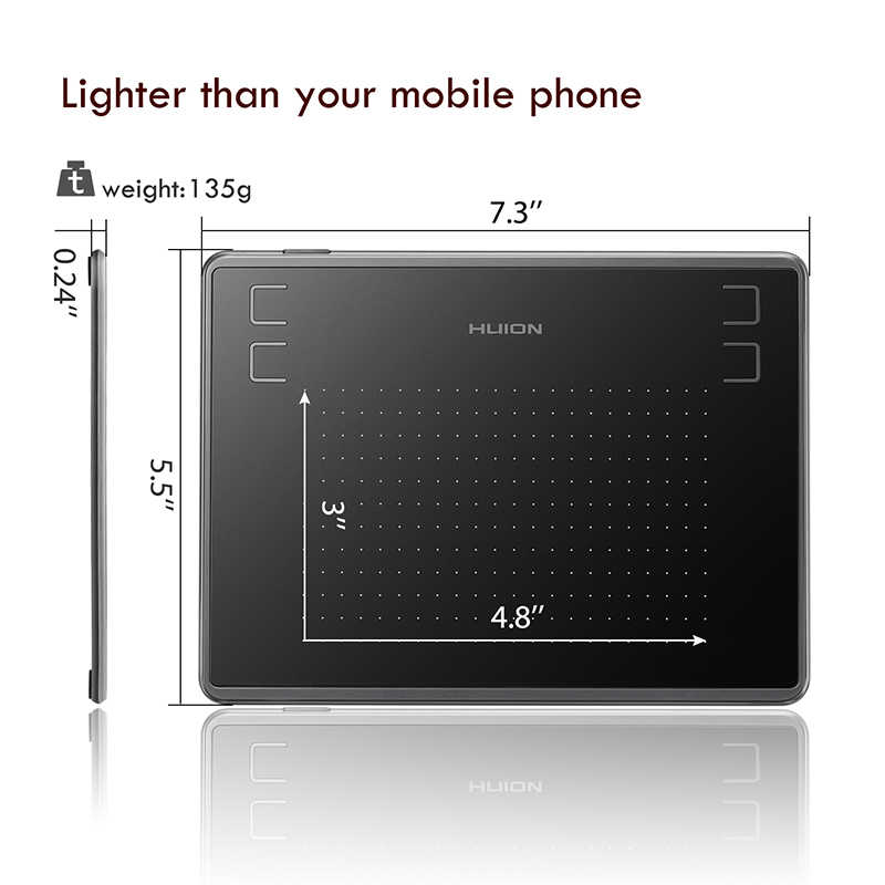 HUION H430P 4x3 אינץ Ultralight דיגיטלי עט Tablet גרפיקה ציור Tablet עם סוללה-משלוח Stylus (מושלם עבור osu)