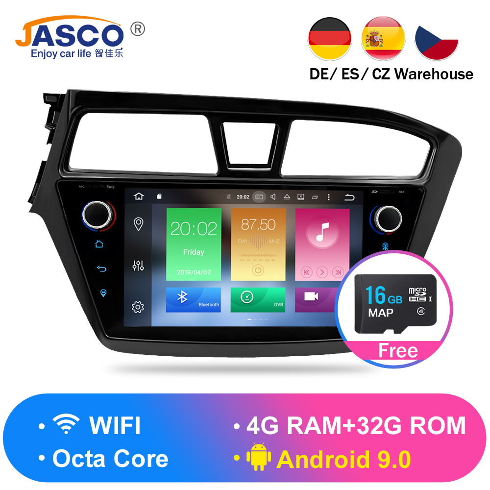 Android 9.0 Car DVD Stereo Multimedia Headunit For HYUNDAI I20 2015  Auto PC Radio GPS Navigation Video Audio 4G RAM