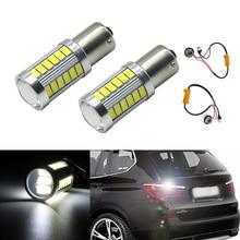 2x автомобиля Светодиодный лампочки P21W Canbus Обратный Свет для 1156 резервные DRL лампы для BMW 3/5 серии E30 E36 e46 E34 X3 X5 E53 E70 Z3 Z4