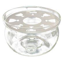 Best Heat Resisting Teapot Warmer Base Clear Glass Round Shape Insulation Tealight