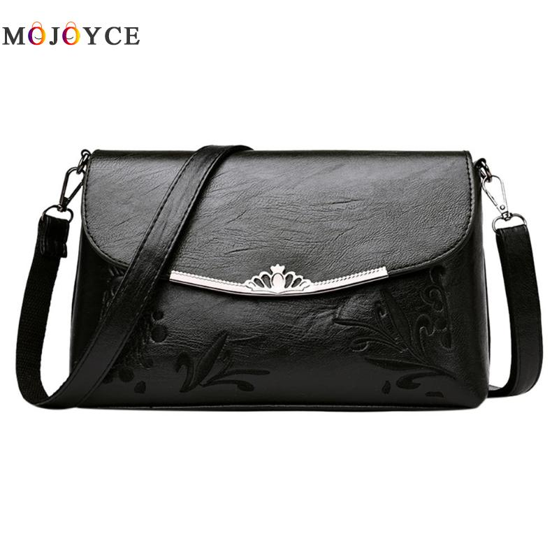 Simple Pure Women Handbags Flap PU Leather Shoulder Bag Office Lady Elegant Clutch bolsos mujer de marca famosa 2018 3