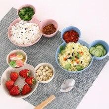 Мультяшная пшеничная соломинка, миска для кормления детей, посуда, пшеничная тарелка для детей, детское блюдо, тренировочные столовые приборы, милый поднос для посуды