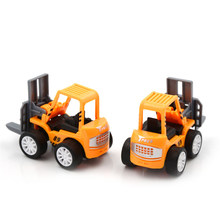 Mini Educational Toys for Children 1 PCS Engineering Car Toys Kids Forklift Vehicle Sets Vehicle Model Car Toys(China)