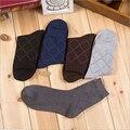 Vestido de estilo de negocios de algodón calcetines de los hombres vestido respirable desodorización calcetines caballero calcetines confortables hombres clásicos ocasionales