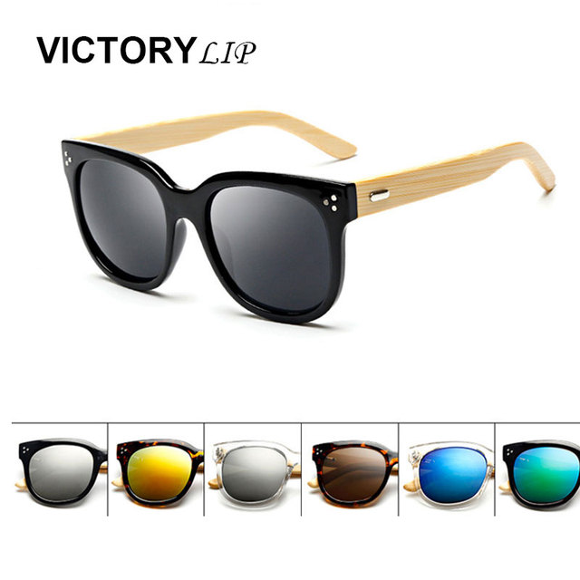 VictoryLip Hot Itália Marca Designer Óculos De Sol Das Mulheres Dos Homens  de Madeira Grande armação fd21e48e8d
