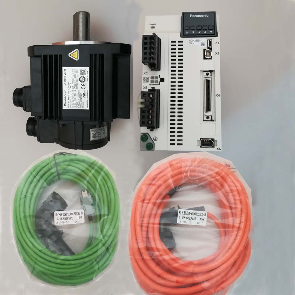 MDMF152L1G6M plus MDDLN55SG full kit 1 5kw Panasonic precision MINAS A6 series AC servo motor and