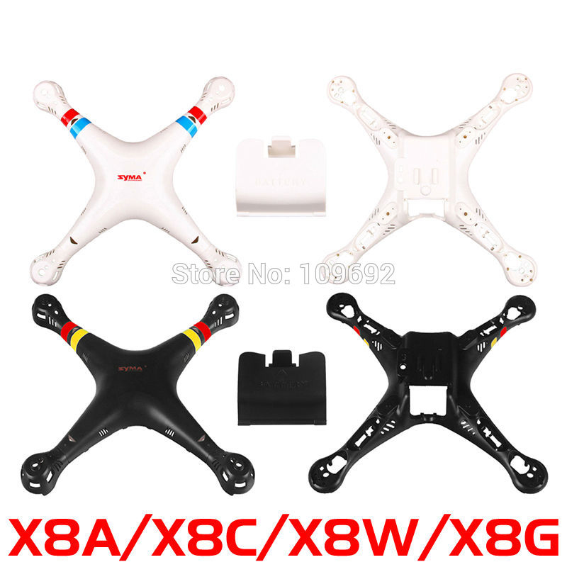 SYMA X8 X8C X8W Extra Main Body Cover to Quadcopter Drone Accessories Spare Part Original 2.4G 6Axis RC Aircraft X8A X8G Cabinet syma x8 x8c x8w x8g 2 4g rc drone quadcopter parts x8c 1 2 main body body shell 1set 2pcs lot free shipping