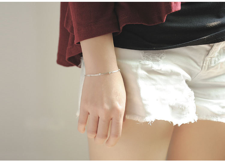 CHS83 new arrival hot sell jewelry silver bracelet have fifferent colors choose for lover gift