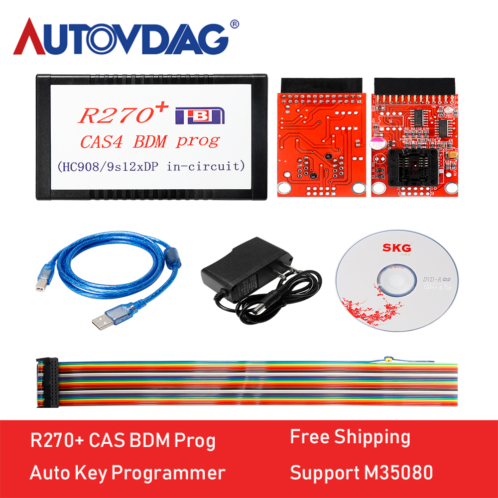 Support M35080 High Quality R270+ CAS4 BDM Programmer For BMW Professional Auto Key Programmer R270 Free Shipping image